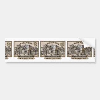 Vintage Cuban Bank of Cuba of Cuba Bumper Sticker