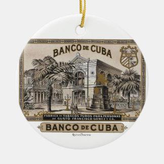 Vintage Cuban Bank of Cuba of Cuba Christmas Ornament