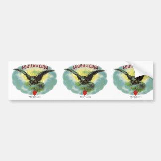 Vintage Cuban Eagle of Cuba Bumper Sticker
