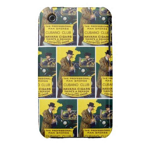 Vintage Cubano Club Cigars iPhone 3 Case-Mate Case