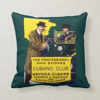 Vintage Cubano Club Cigars Throw Cushions