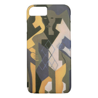 Vintage Cubism, Harlequin at a Table by Juan Gris iPhone 7 Case