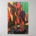 Vintage Cubism, Violin and Guitar by Juan Gris Poster