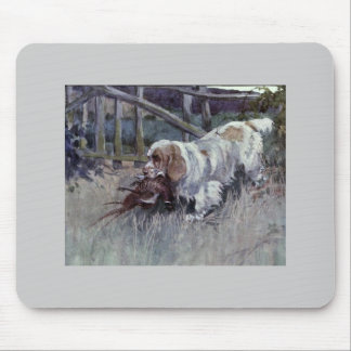 Vintage Cumber Spaniel Mouse Pad