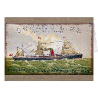 Vintage Cunard Line Royal Mail Steamers Blank Card