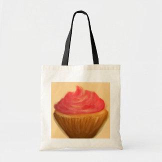 Vintage cupcake tote bag