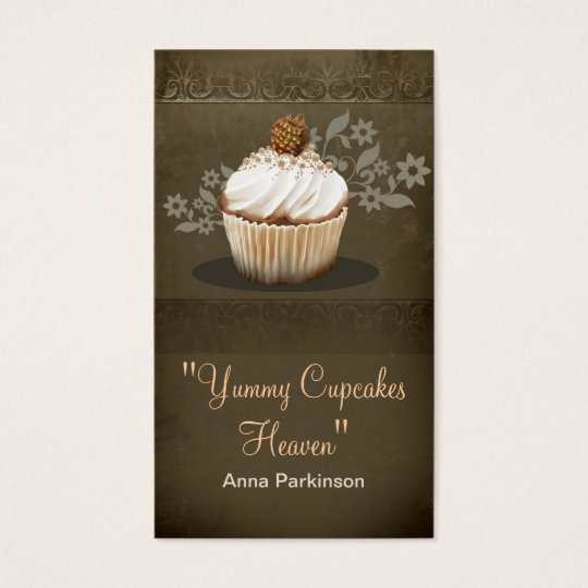 vintage cupcakes business card