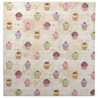 Vintage Cupcakes Cloth Napkin