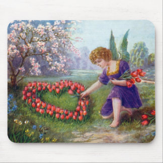 Vintage Cupid Heart Love 1920s Mouse Pad
