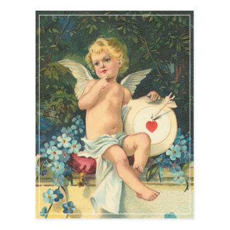 Vintage Cupid & Mark Postcard
