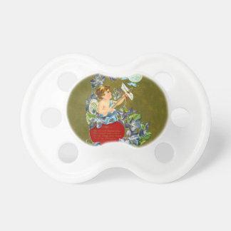 Vintage Cupid & Moonbeam Valentine Baby Pacifiers