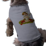 Vintage Cupid on Lily Pad Doggie T Shirt