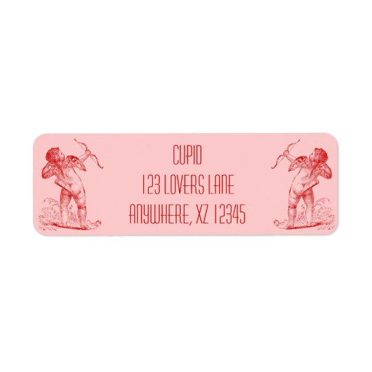 Vintage Cupid Return Address Label