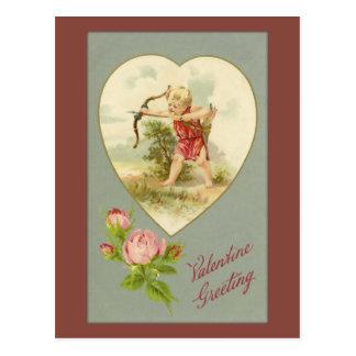 Vintage Cupid Valentine Postcard