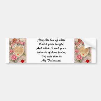 Vintage Cupid With Dove And Love Letter Bumper Sticker