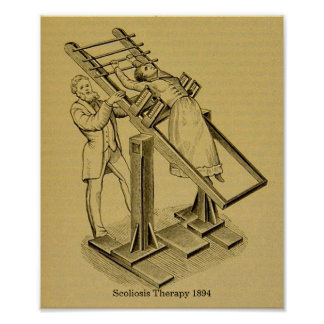Vintage Cures Scoliosis Therapy 1894 Image Poster