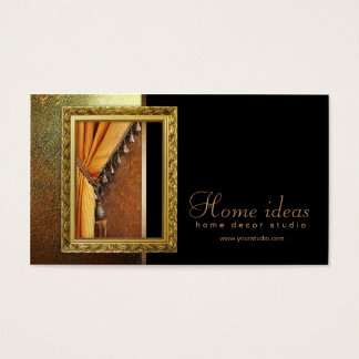 Vintage Curtain Treatment Classic Business Card