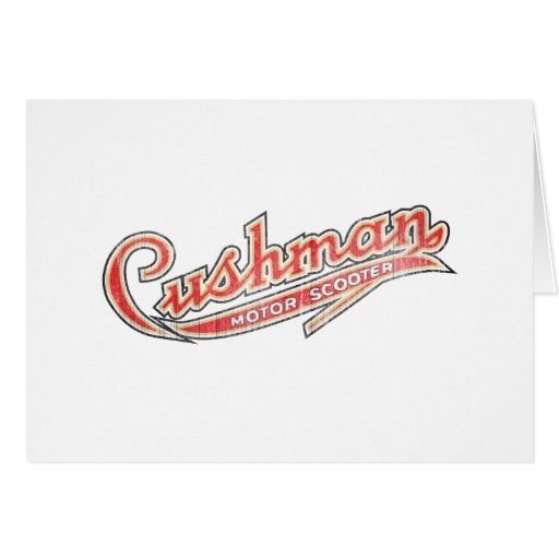 Vintage Cushman Designs Card
