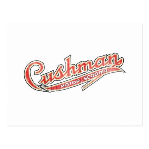 Vintage Cushman Designs Postcard