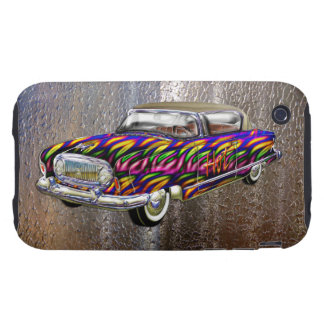 Vintage Custom 1955 Nash Abstract Fire Automobile Tough iPhone 3 Covers