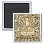 Vintage Custom Buddha Square Magnet