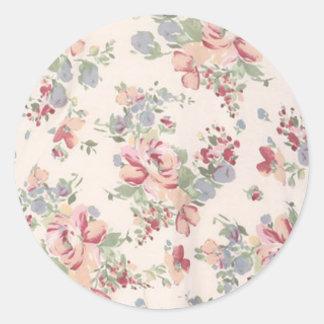 Vintage Customizable Floral Print Sticker