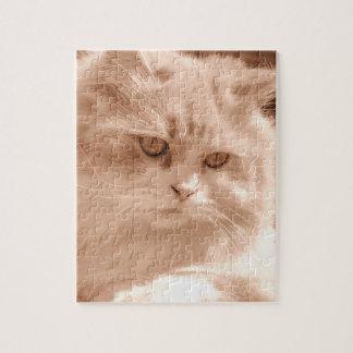 Vintage Cute Cat Kitten Photo, Jigsaw Puzzle