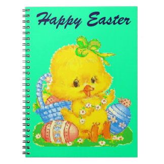 Vintage Cute Easter Duckling and Easter Egg Notebooks