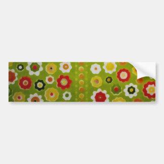 Vintage Cute Flower Power Retro Wallpaper Bumper Sticker