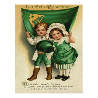 Vintage Cute Irish Couple St Patrick s Day Card Post Cards
