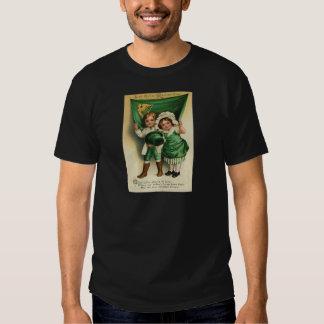 Vintage Cute Irish Couple St Patrick's Day Card Shirts