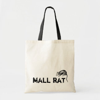 vintage cute mall rat shopping tote bag