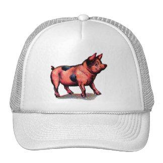 Vintage Cute Pig Piglet Trucker Hat