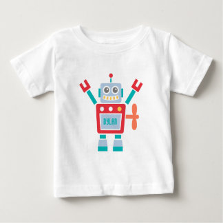 Vintage Cute Robot Toy For Baby Boys Baby T-Shirt