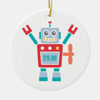 Vintage Cute Robot Toy For Kids Room Christmas Ornament