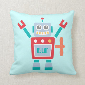 Vintage Cute Robot Toy For Kids Room Cushion