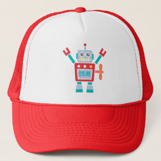 Vintage Cute Robot Toy For Trucker Hat