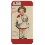 Vintage Cute Valentines Day, Girl with Love Letter Barely There iPhone 6 Plus Case