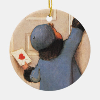 Vintage Cute Valentine's Day, Love Letter Mail Christmas Ornament