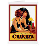 Vintage Cuticura Shampoo Ad Beautiful Woman in the Cards