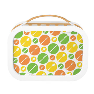 Vintage Cutlery Pattern Lunch Box