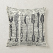 Vintage Cutlery Set Cushion