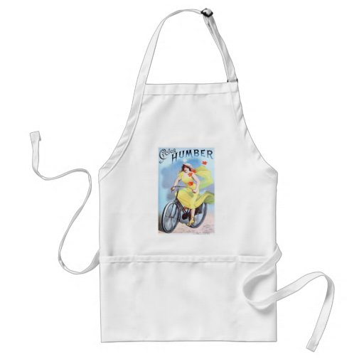 Vintage Cycles Humber Albert Houbrac Woman Cycling Aprons