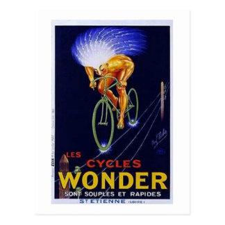 Vintage Cycles Wonder Ad Postcard
