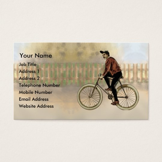 Vintage Cyclist in the Country Business Card
