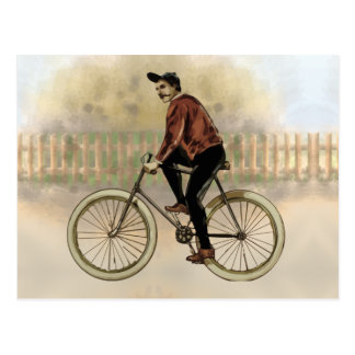 Vintage Cyclist in the Country Post Card