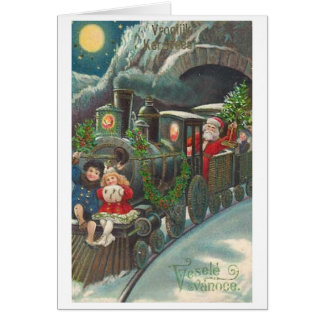 Vintage Czech Christmas Greeting Card
