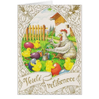 Vintage Czech / Slovak Easter Card