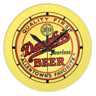 Vintage Daeufer's Beer Large Clock