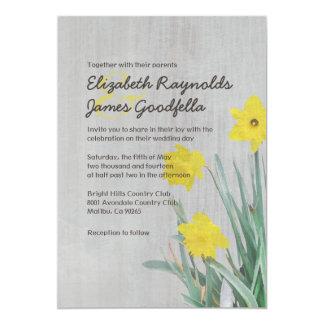 Vintage Daffodil Wedding Invitations